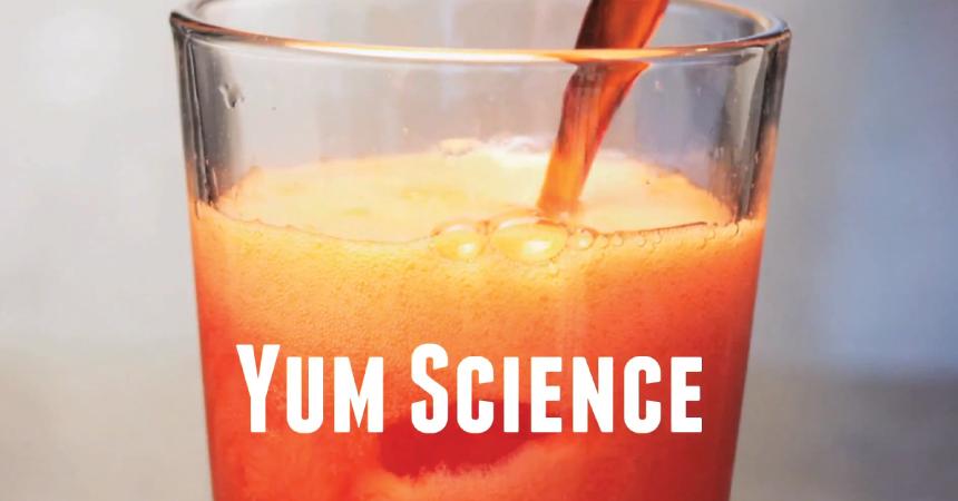 Yum Science title screen